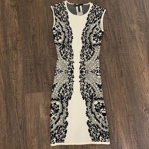 BCBGMAXAZRIA black and white dress